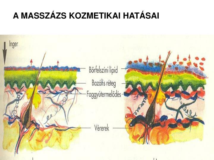 A MASSZÁZS KOZMETIKAI HATÁSAI