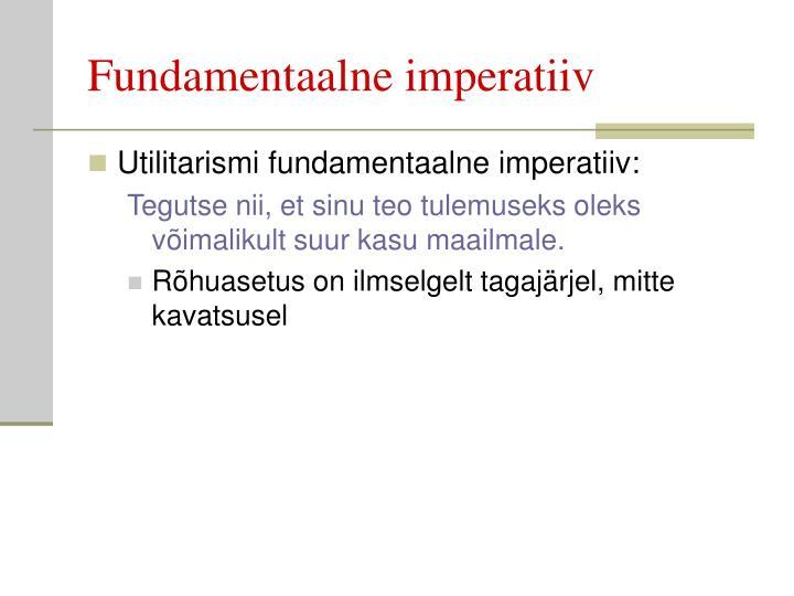 Fundamentaalne imperatiiv