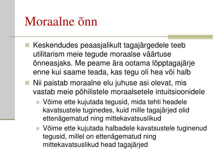 Moraalne õnn