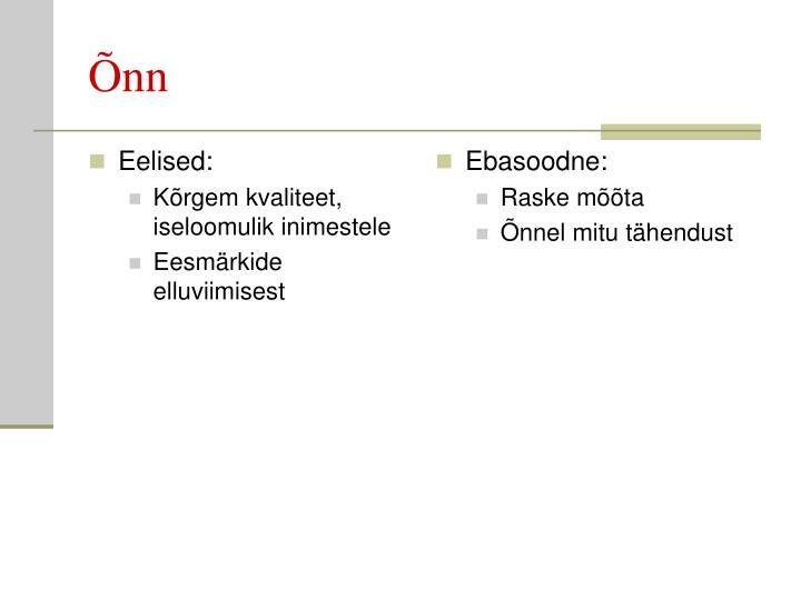 Eelised: