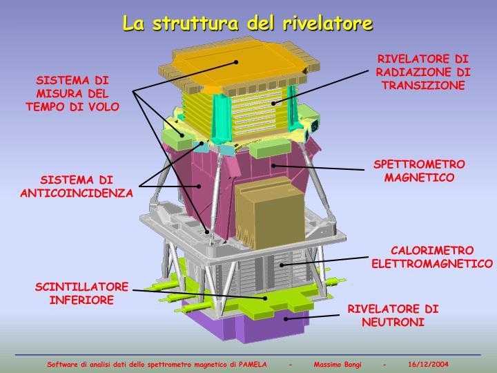 La struttura del rivelatore