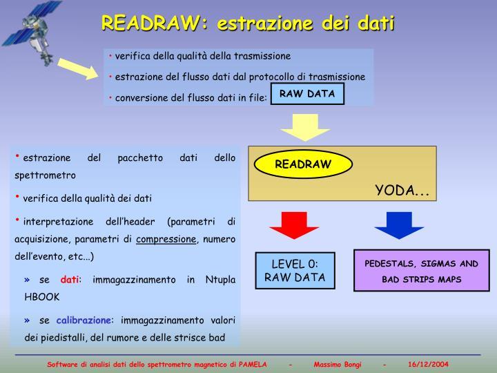 READRAW: estrazione dei dati