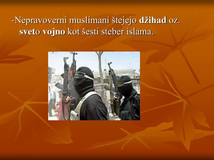 -Nepravoverni muslimani štejejo