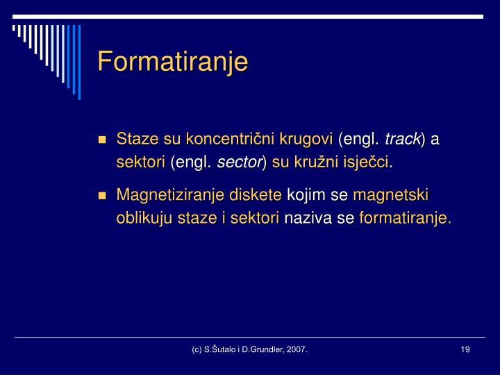 Formatiranje