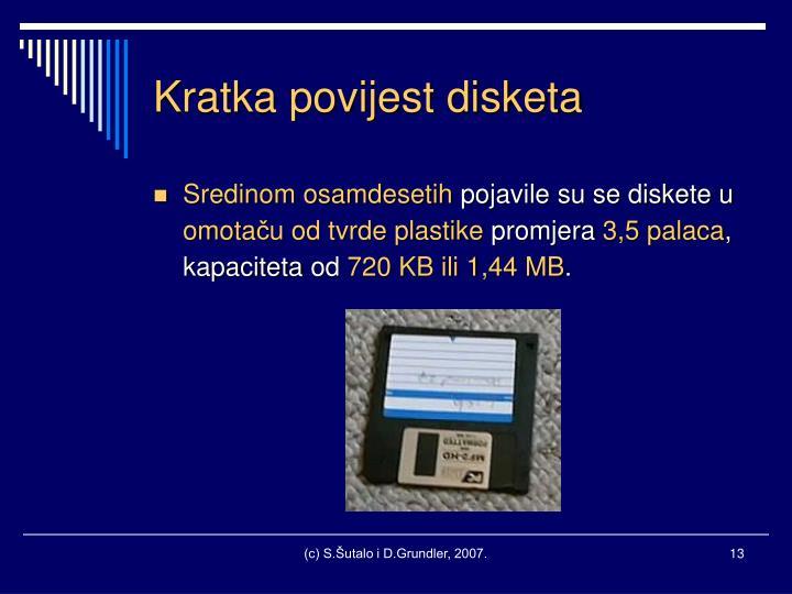 Kratka povijest disketa