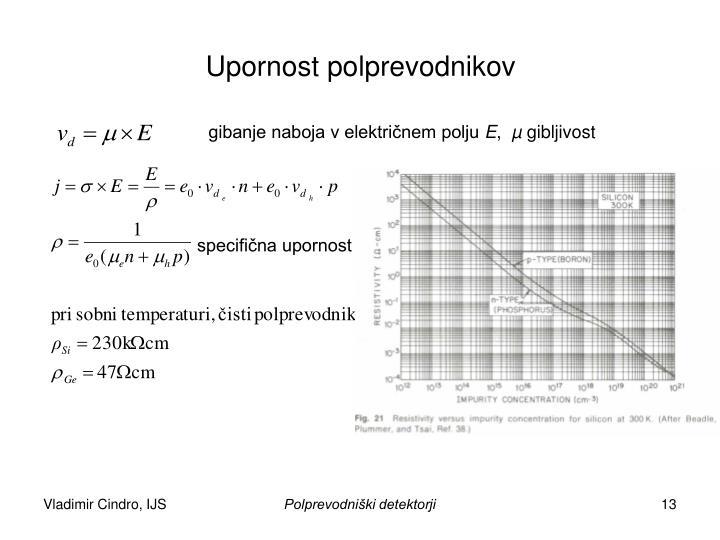Upornost polprevodnikov