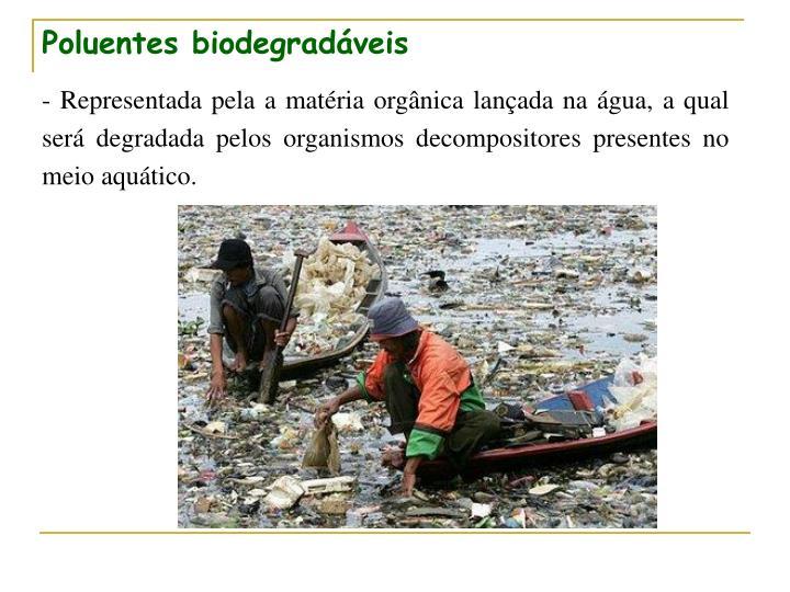 Poluentes biodegradáveis