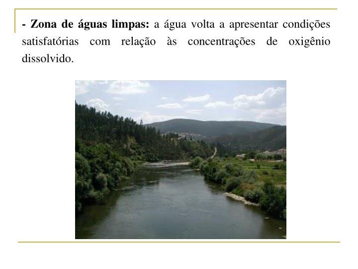 - Zona de águas limpas: