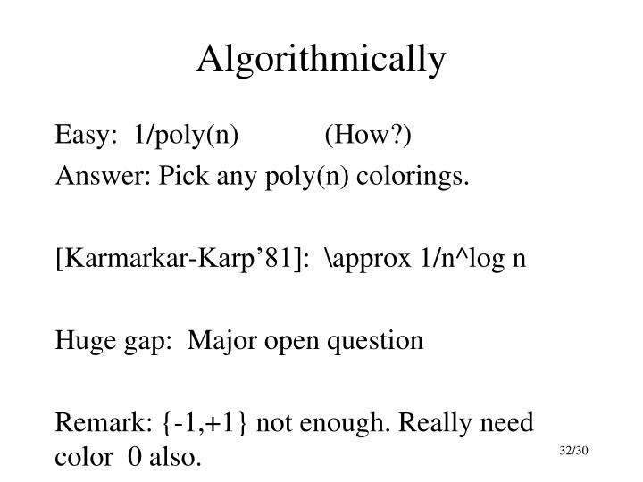 Algorithmically