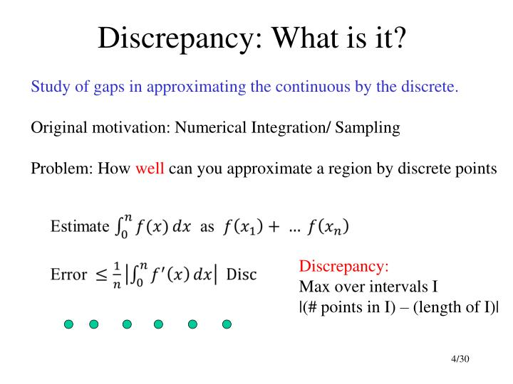 Discrepancy: What is it?