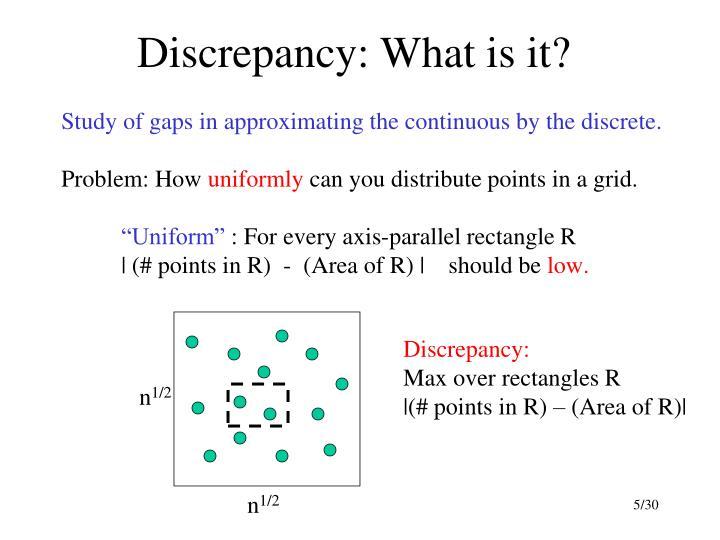 Discrepancy: What is it?