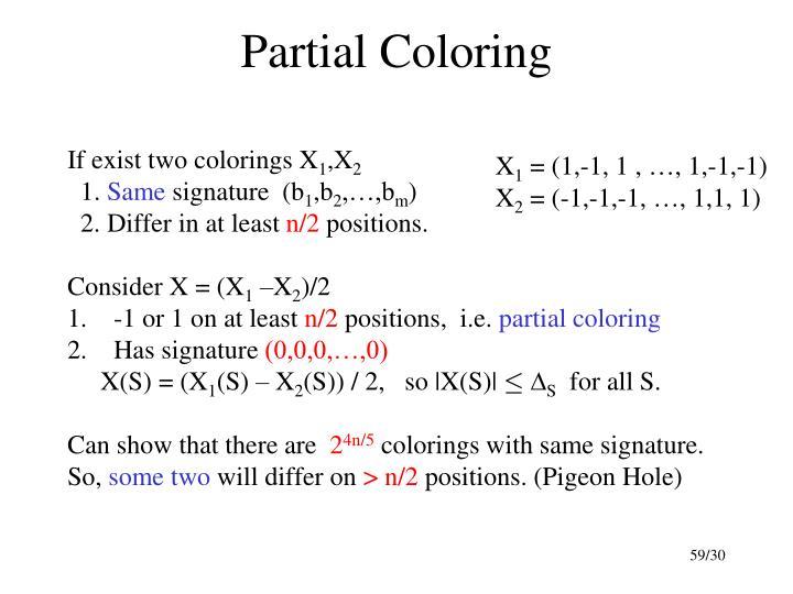 Partial Coloring