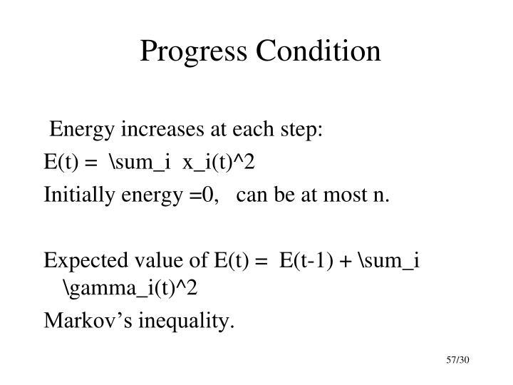 Progress Condition