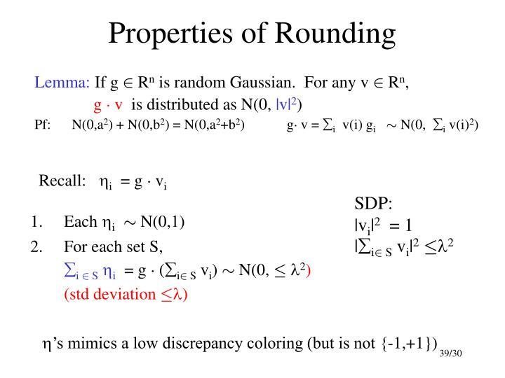Properties of Rounding