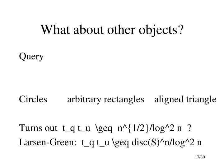 What about other objects?
