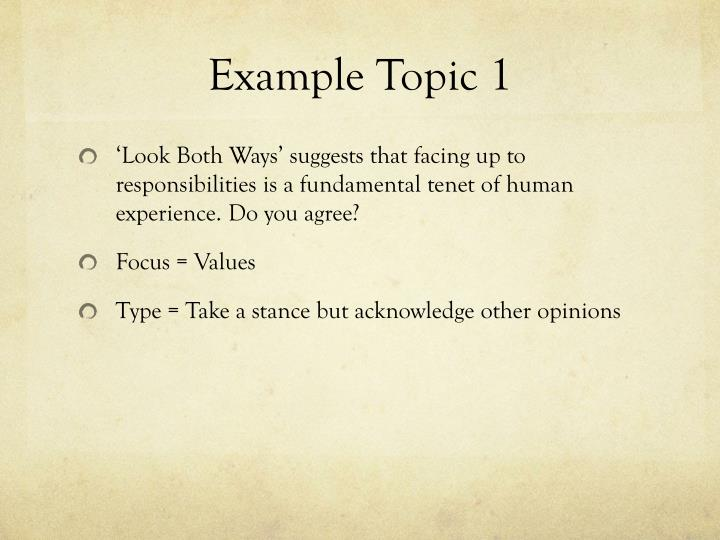 Example Topic 1