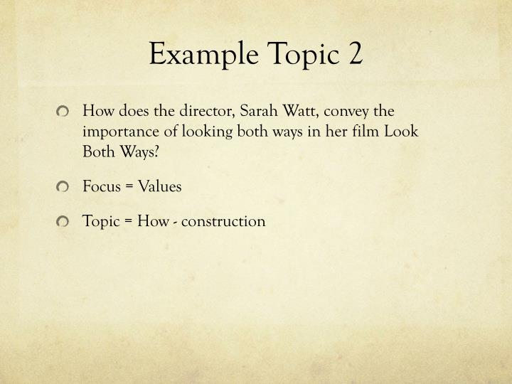 Example Topic 2
