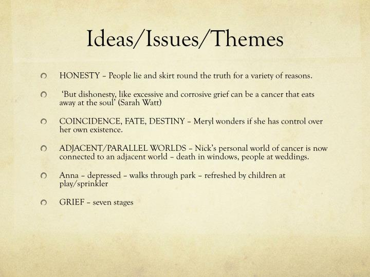 Ideas/Issues/Themes