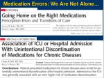 medication errors we are not alone