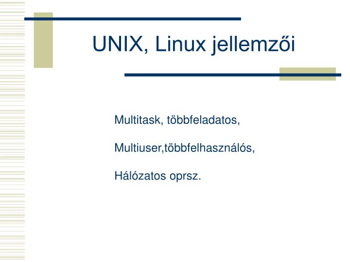 UNIX, Linux jellemzői