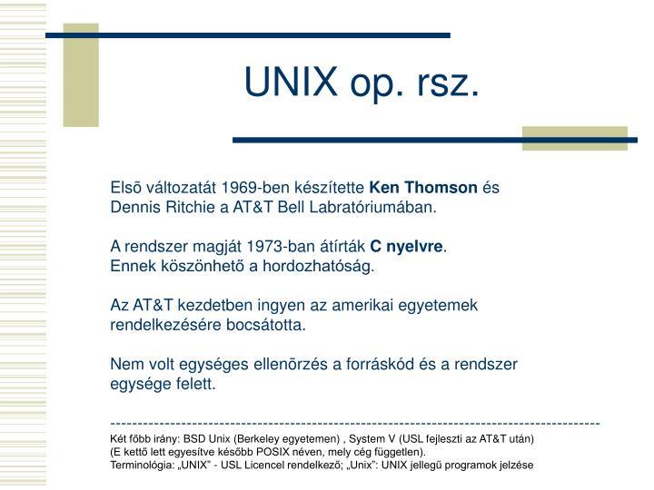 UNIX op. rsz.