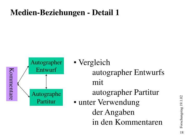 Medien-Beziehungen - Detail 1
