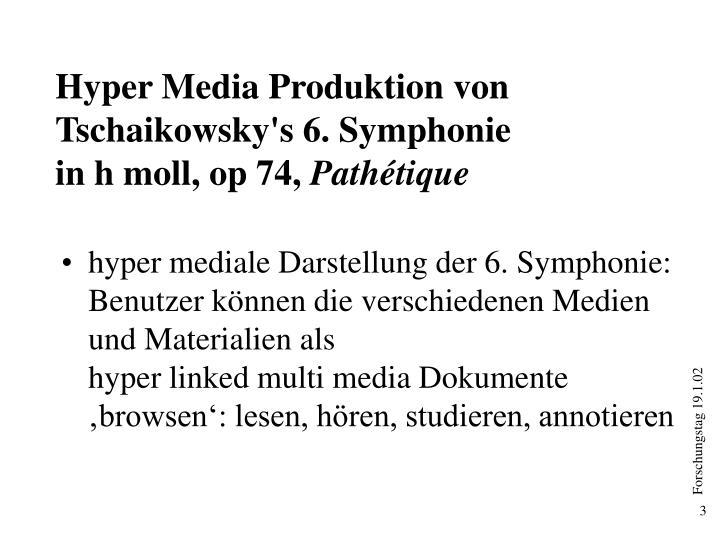 Hyper Media Produktion von