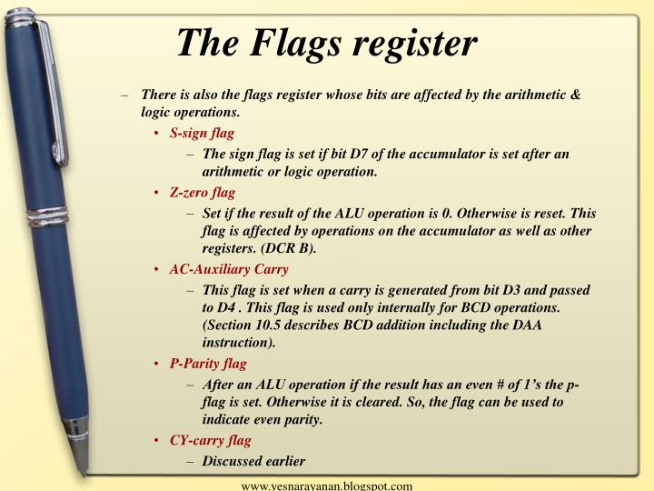 The Flags register