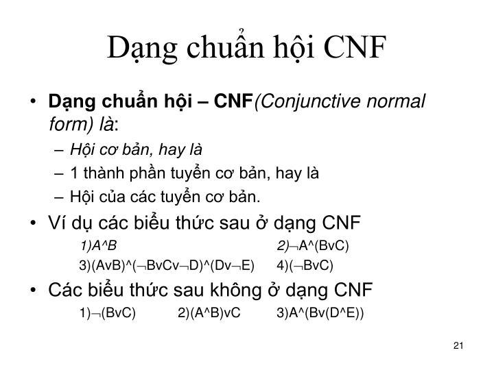 Dạng chuẩn hội CNF