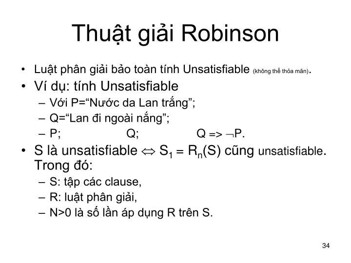 Thuật giải Robinson