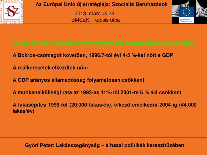 Az Európai Unió új stratégiája: Szociális Beruházások