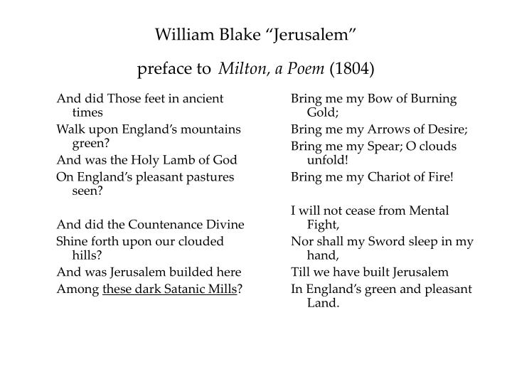 william blake man industrial revolution William blake was a poet who was not very well recognized during his lifetime  and the expansion of empire, slavery, and finally the industrial revolution  in his poetry, we hear a man who look's for mankind to salvage his.