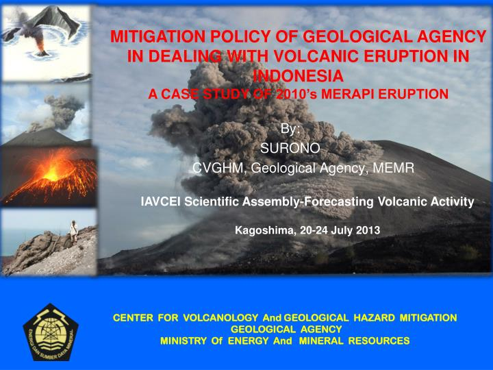 By surono cvghm geological agency memr