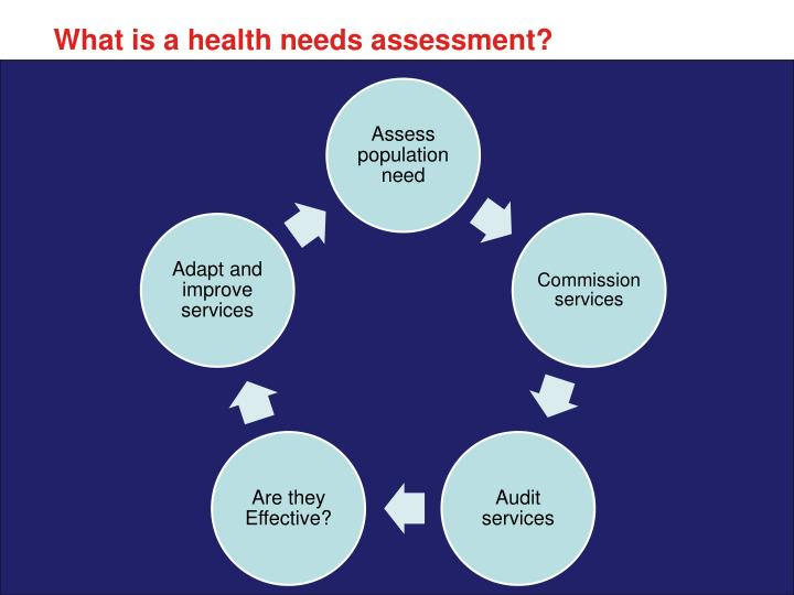 What is a health needs assessment