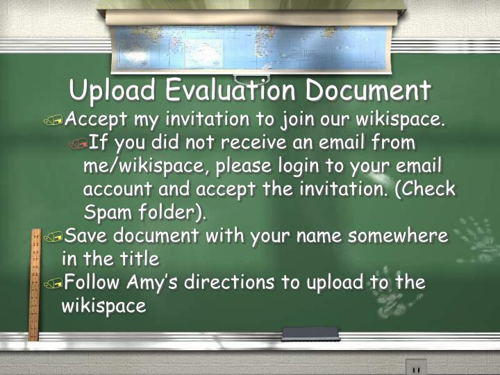 Upload Evaluation Document