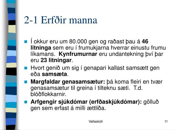 2-1 Erfðir manna