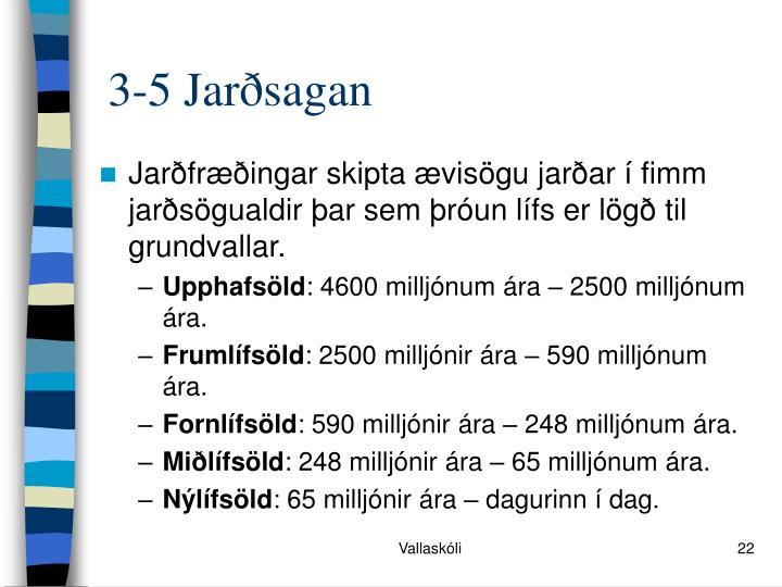 3-5 Jarðsagan