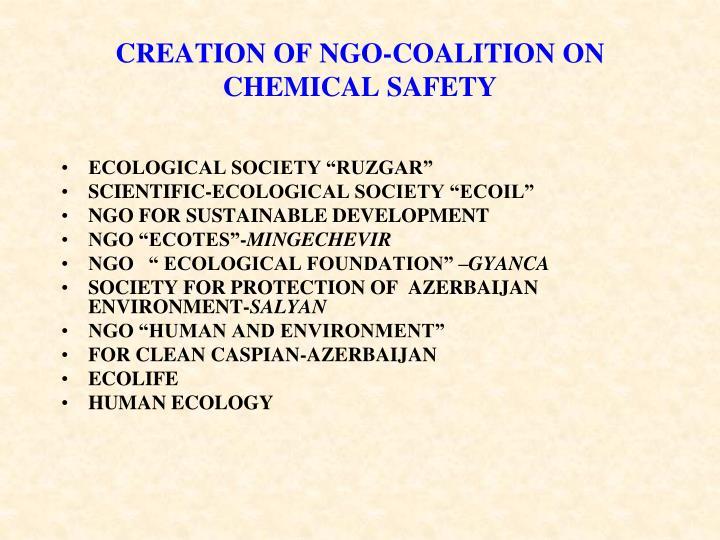 CREATION OF NGO-COALITION ON CHEMICAL SAFETY
