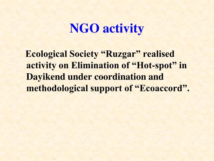NGO activity