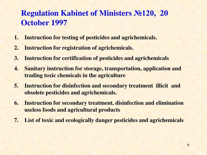 Regulation Kabinet of Ministers