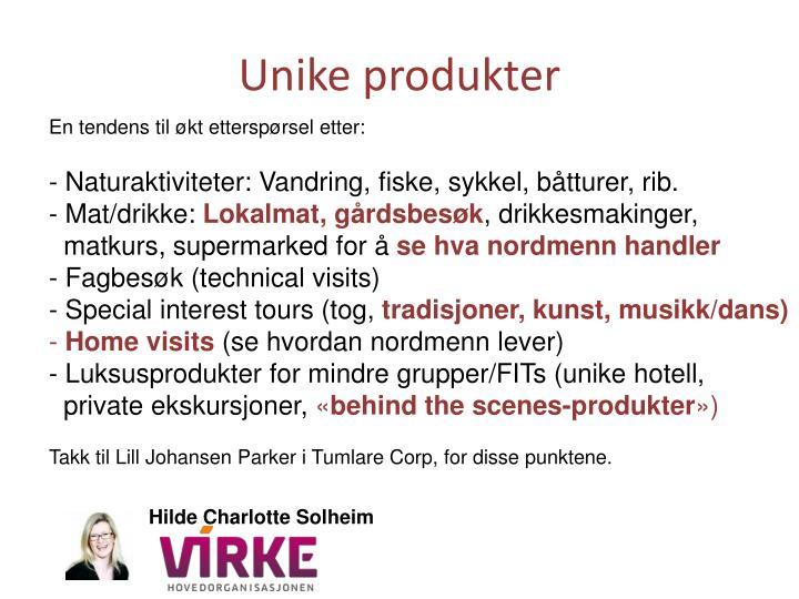 Unike produkter