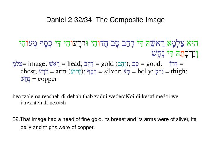 Daniel 2-32/34: The Composite Image