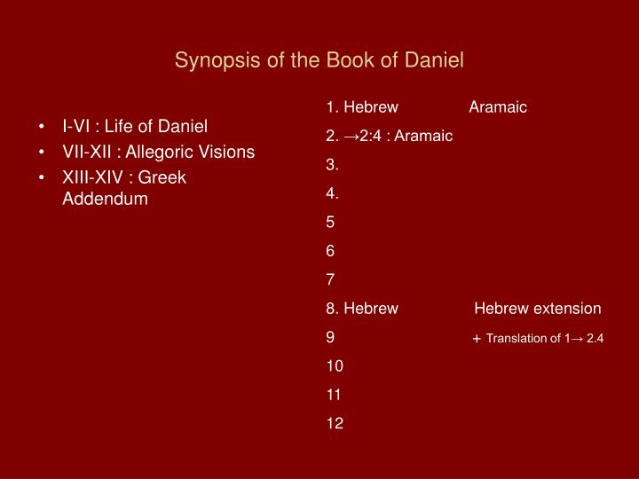 Synopsis of the book of daniel