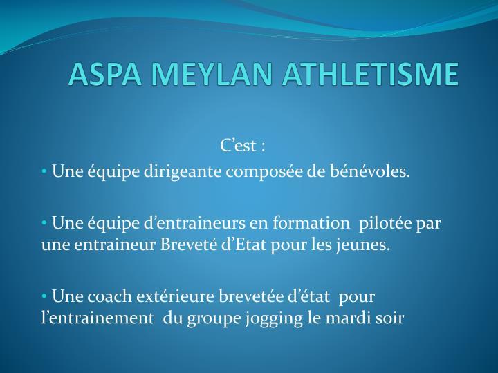 ASPA MEYLAN ATHLETISME