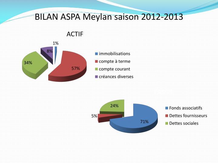 BILAN ASPA Meylan saison 2012-2013