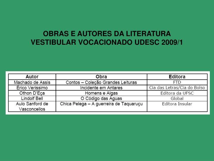 OBRAS E AUTORES DA LITERATURA