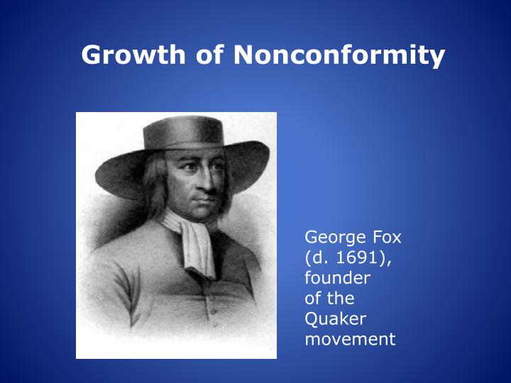 Growth of Nonconformity