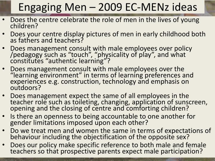 Engaging Men – 2009 EC-
