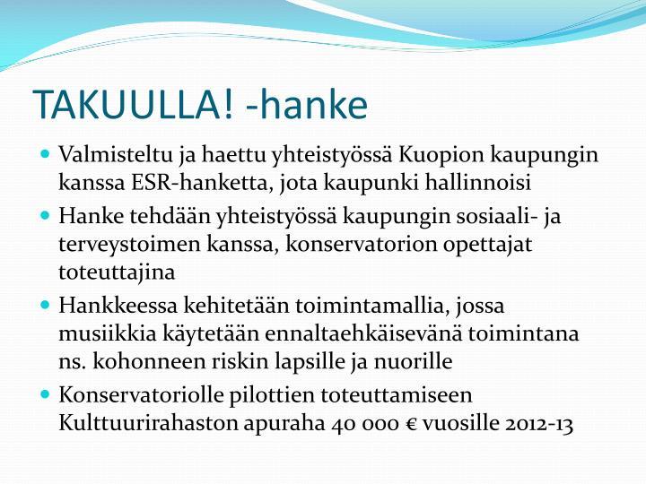 TAKUULLA! -hanke