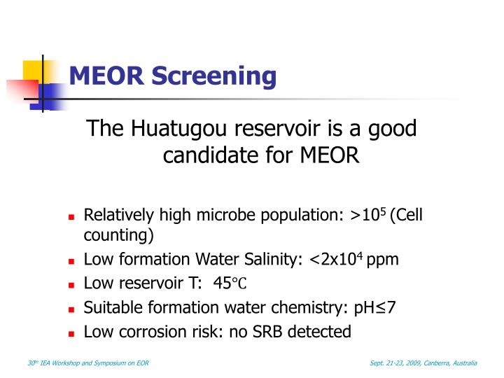 MEOR Screening
